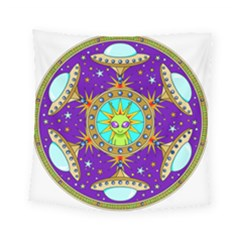 Alien Mandala Square Tapestry (small)