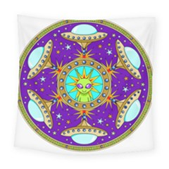 Alien Mandala Square Tapestry (large)