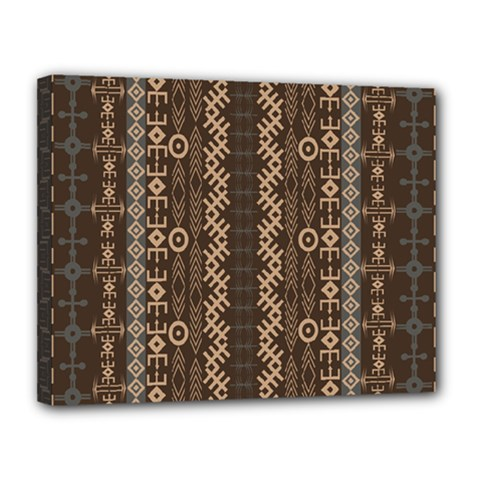 African Style Vector Pattern Canvas 14  X 11