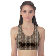 African Style Vector Pattern Sports Bra
