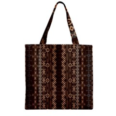 African Style Vector Pattern Zipper Grocery Tote Bag