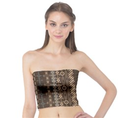 African Style Vector Pattern Tube Top