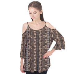 African Style Vector Pattern Flutter Tees