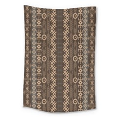 African Style Vector Pattern Large Tapestry