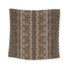 African Style Vector Pattern Square Tapestry (Small)