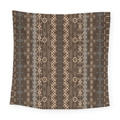 African Style Vector Pattern Square Tapestry (large)
