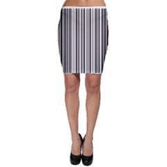 Barcode Pattern Bodycon Skirt