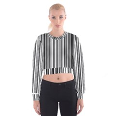 Barcode Pattern Women s Cropped Sweatshirt