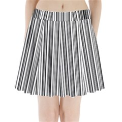 Barcode Pattern Pleated Mini Skirt