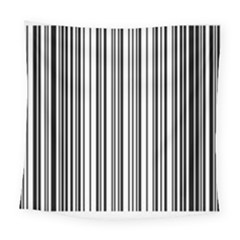 Barcode Pattern Square Tapestry (Large)