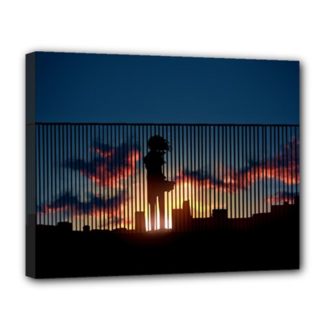 Art Sunset Anime Afternoon Canvas 14  X 11