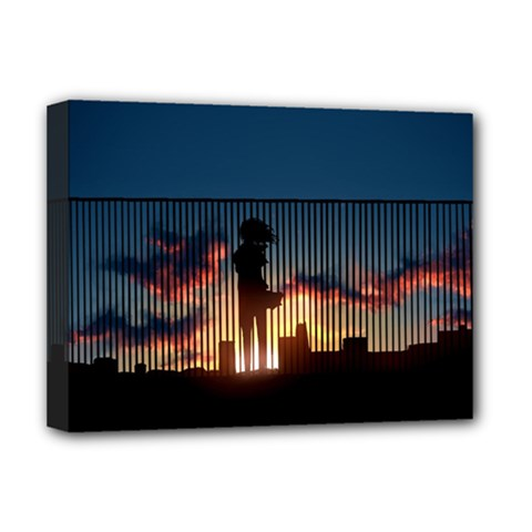 Art Sunset Anime Afternoon Deluxe Canvas 16  x 12