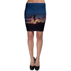 Art Sunset Anime Afternoon Bodycon Skirt