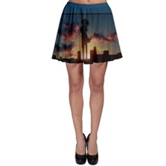 Art Sunset Anime Afternoon Skater Skirt