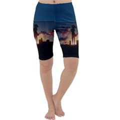 Art Sunset Anime Afternoon Cropped Leggings