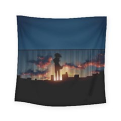 Art Sunset Anime Afternoon Square Tapestry (Small)