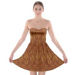Art Abstract Pattern Strapless Bra Top Dress