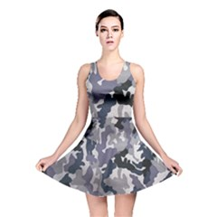 Army Camo Pattern Reversible Skater Dress