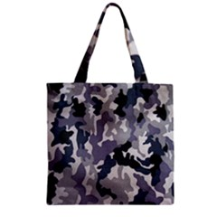 Army Camo Pattern Zipper Grocery Tote Bag