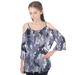 Army Camo Pattern Flutter Tees