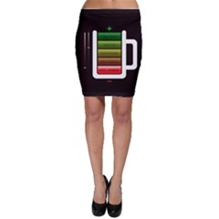 Black Energy Battery Life Bodycon Skirt