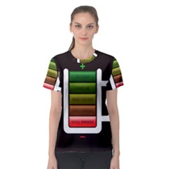 Black Energy Battery Life Women s Sport Mesh Tee