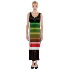 Black Energy Battery Life Fitted Maxi Dress