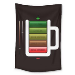 Black Energy Battery Life Large Tapestry
