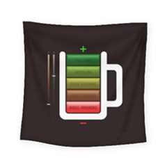Black Energy Battery Life Square Tapestry (Small)