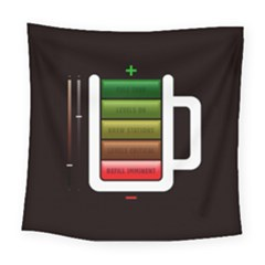 Black Energy Battery Life Square Tapestry (large)