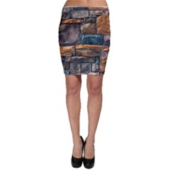 Brick Wall Pattern Bodycon Skirt