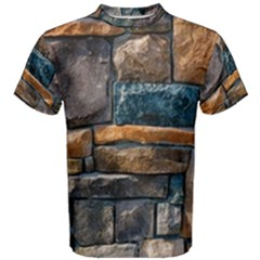Brick Wall Pattern Men s Cotton Tee