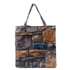 Brick Wall Pattern Grocery Tote Bag