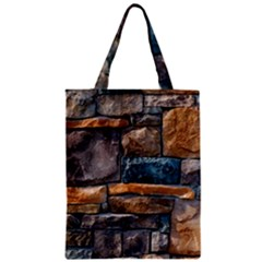 Brick Wall Pattern Zipper Classic Tote Bag