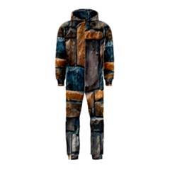 Brick Wall Pattern Hooded Jumpsuit (Kids)