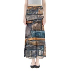 Brick Wall Pattern Maxi Skirts