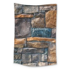 Brick Wall Pattern Large Tapestry