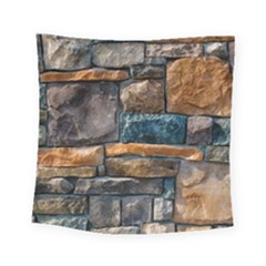 Brick Wall Pattern Square Tapestry (small)
