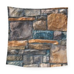 Brick Wall Pattern Square Tapestry (large)