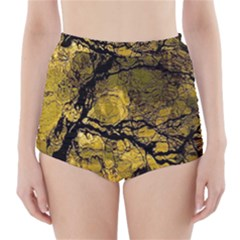 Colorful The Beautiful Of Traditional Art Indonesian Batik Pattern High-Waisted Bikini Bottoms