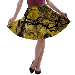 Colorful The Beautiful Of Traditional Art Indonesian Batik Pattern A-line Skater Skirt