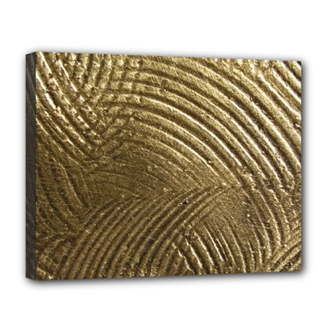 Brushed Gold Canvas 14  x 11