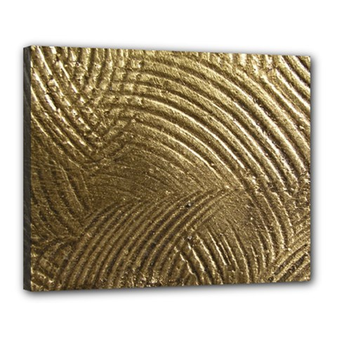 Brushed Gold Canvas 20  x 16
