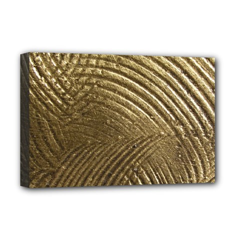 Brushed Gold Deluxe Canvas 18  x 12