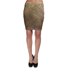 Brushed Gold Bodycon Skirt