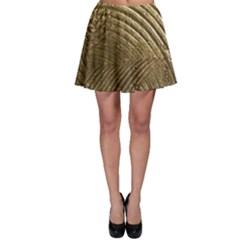 Brushed Gold Skater Skirt