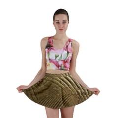 Brushed Gold Mini Skirt