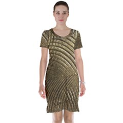 Brushed Gold Short Sleeve Nightdress