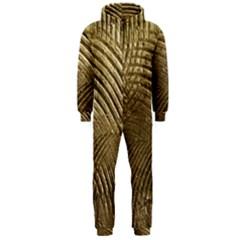 Brushed Gold Hooded Jumpsuit (Men)
