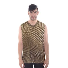 Brushed Gold Men s Basketball Tank Top
